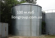 Пожарный резервуар на 100 кубов для воды,  емкость 100 м3